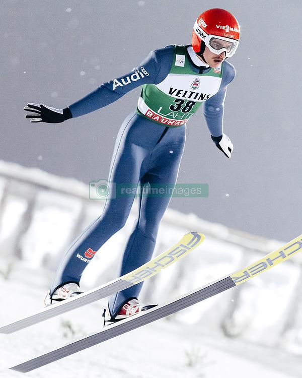 February 8, 2019 - Lahti, Finland - Richard Freitag participates in FIS Ski Jumping World Cup Large Hill Individual training at Lahti Ski Games in Lahti, Finland on 8 February 2019. (Credit Image: © Antti Yrjonen/NurPhoto via ZUMA Press)