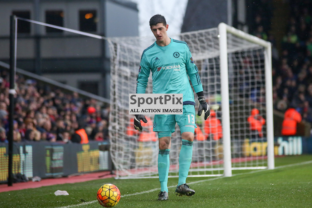 Thibaut Courtois During Crystal Palace vs Chelsea Sunday 3rd January 2016