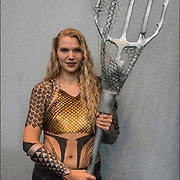 Cosplayer in her Aquaman costume at the New York ComicCon.  <br />