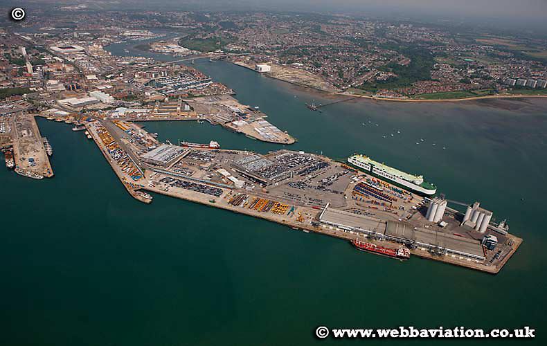 aerial photograph of Southampton Hampshire UK