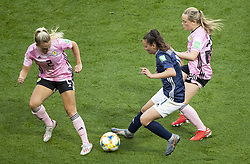 Kirsty SMITH (SCO) Florencia BONSEGUNDO (ARG), Erin CUTHBERT (SCO) in action during the match of 2019 FIFA Women's World Cup France group D match between Scotland and Argentina, at Parc Des Princes stadium on June 19, 2019 in Paris, France. Photo by Loic Baratoux/ABACAPRESS.COM