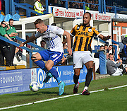 Chris Hussey sees the ball go out during the Sky Bet League 1 match between Bury and Port Vale at Gigg Lane, Bury, England on 19 September 2015. Photo by Mark Pollitt.