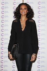 ALESHA DIXON attends the James' Jog-on to Cancer charity fundraiser, Kensington Roof Gardens, April 3, 2013 in London, England. Photo by: i-Images..