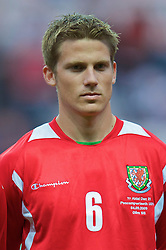 SWANSEA, ENGLAND - Friday, September 4, 2009: Wales' Christian Ribeiro during the UEFA Under 21 Championship Qualifying Group 3 match against Italy at the Liberty Stadium. (Photo by David Rawcliffe/Propaganda)