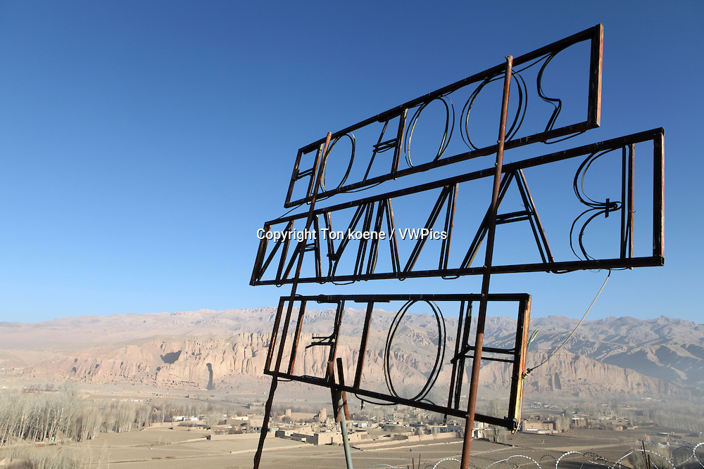 hotel sign in bamyan, Afghanistan