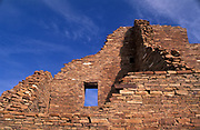 Window and walls, Pueblo Bonito, Chaco Culture National Historical Park, New Mexico.