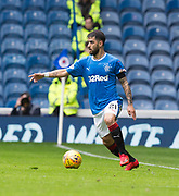 7th April 2018, Ibrox Stadium, Glasgow, Scotland; Scottish Premier League football, Rangers versus Dundee; Daniel Candeias of Rangers