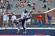 Derrick Jones (19) breaks up a pass to Laquon Treadwell at Mississippi's Grove Bowl controlled scrimmage at Vaught-Hemingway Stadium in Oxford, Miss. on Saturday, April 5, 2014. (AP Photo/Oxford Eagle, Bruce Newman)