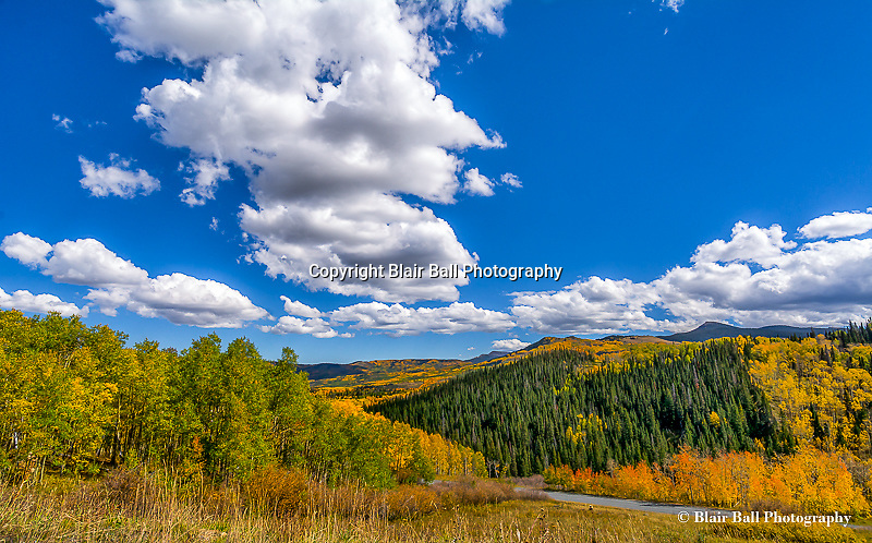Steamboat Springs Colorado and surrounding areas in the fall.