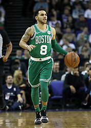 Boston Celtics' Shane Larkin during the NBA London Game 2018 at the O2 Arena, London. PRESS ASSOCIATION Photo. Picture date: Thursday January 11, 2018. See PA story BASKETBALL London. Photo credit should read: Simon Cooper/PA Wire. RESTRICTIONS: Editorial use only, No commercial use without prior permission