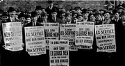 Unemployment in Britain 1920-1923. Ex-serivcemen demonstrating in protest at the thousands of them who had lost their jobs.
