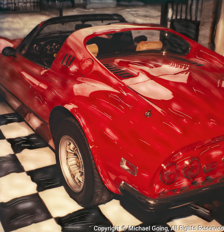 Red 1973 Ferrari Dino 246 GTS