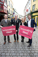 Repro free. John Breslin, NUIG and Innovating West, David Ryan, Laura Myles from FOD.ie with David Cunningham, Counterweight and Innovating West, at the Sponsors launch of Innovating West which takes place in the Lifecourse Institute at NUIG .<br />  Innovating West, a one-day summit in Galway that will bring together innovators, creators, entrepreneurs and leaders to discuss how great teams and innovation ecosystems can be built in the West of Ireland. Photo:Andrew Downes
