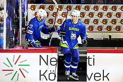 Sabahudin Kovacevic of Slovenia during Ice Hockey match between National Teams of Italy and Slovenia in Round #5 of 2018 IIHF Ice Hockey World Championship Division I Group A, on April 28, 2018 in Arena Laszla Pappa, Budapest, Hungary. Photo by David Balogh / Sportida