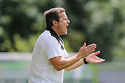 Forest Green Rovers manager, Mark Cooper during the Pre-Season Friendly match between Forest Green Rovers and Birmingham City at the New Lawn, Forest Green, United Kingdom on 16 July 2016. Photo by Shane Healey.