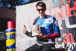 Jure Zabjek of Unior Tools Team Slovenia during downhill competition Sorca 2015 at Smucarski center Soriska Planina, Slovenia. Photo by Grega Valancic / Sportida
