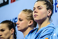 22-01-2016: waterpolo: Nederland v Hongarije: Belgrado<br /> <br /> SEVENICH Vivian of team Netherlands tijdens de line-up<br /> <br /> Women final waterpolomatch between team The Netherlands vs Hungary during the 32nd LEN European Championships in Belgrade<br /> <br /> Foto: Gertjan Kooij