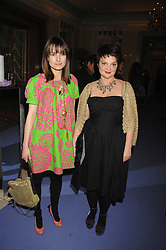 Left to right, DAISY BATES and LULU GUINNESS at the 10th Anniversary Party of the Lavender Trust, Breast Cancer charity held at Claridge's, Brook Street, London on 1st May 2008.<br />