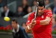 Novak Djokovic during the Madrid Open at Manzanares Park Tennis Centre, Madrid<br /> Picture by EXPA Pictures/Focus Images Ltd 07814482222<br /> 07/05/2016<br /> ***UK & IRELAND ONLY***<br /> EXPA-ESP-160507-0011.jpg