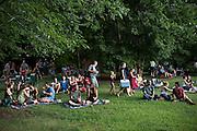 The crowd at Saturdays in Saxapahaw.