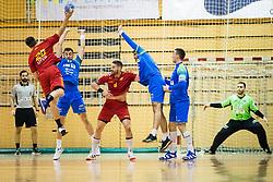 Cehte Nejc of Slovenia and Zabic Igor of Slovenia during friendly handball match between national teams Slovenia and Montenegro on 4th Januar, 2020, Trbovlje, Slovenia. Photo By Grega Valancic / Sportida
