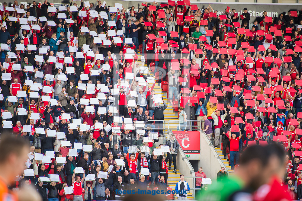 Rotherham United fans ahead of the Sky Bet League 1 Play-Off Semi-Final match at the New York Stadium, Rotherham<br /> Picture by Matt Wilkinson/Focus Images Ltd 07814 960751<br /> 16/05/2018
