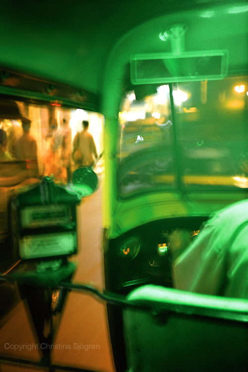In a rickshaw, Mumbai, India