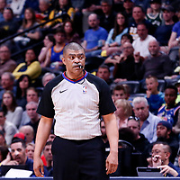 01 April 2018: referee Tony Brothers (25) is seen during the Denver Nuggets 128-125 victory over the Milwaukee Bucks, at the Pepsi Center, Denver, Colorado, USA.