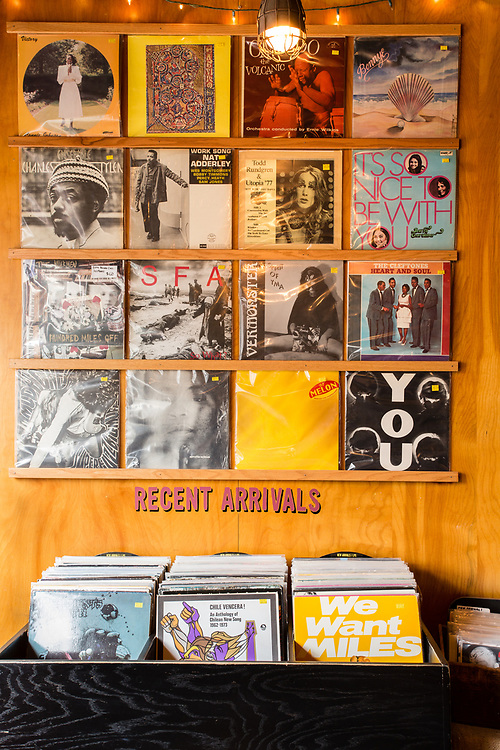Black Gold, a vinyl, coffee, asnd antique shop in Brooklyn's Carroll Gardens.