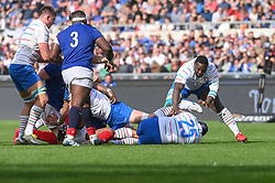 March 16, 2019 - Rome, Italy - Cherif  Traorè during RBS Six Nations Rugby Championship, Italia v Francia at the Olympic Stadium in Rome, on march 16, 2019  (Credit Image: © Silvia Lore/NurPhoto via ZUMA Press)