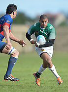 GEORGE, SOUTH AFRICA - SEPTEMBER 24: Leegan Moos of RSK Evergreens during the Gold Cup 2016 match between RSK Evergreens and Pirates at Pacaltsdorp Sports Ground on September 24, 2016 in George, South Africa. (Photo by Roger Sedres/Gallo Images)