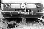Mercedes truck grill.Glastonbury, 1995.