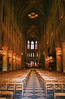 Notre Dame de Paris interior nave