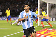 Sergio Aguero.<br /> <br /> 2014 World Cup Qualifier vs Ecuador.<br /> June 2nd, 2012.<br /> Estadio Monumental Vespucio Liberti.<br /> Buenos Aires, Argentina.<br /> <br /> Original file sizes up to 27mb 5084 x 3456