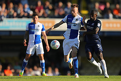 Chris Lines of Bristol Rovers and Theo Robinson of Southend United fight for the ball - Mandatory by-line: Richard Calver/JMP - 05/05/2018 - FOOTBALL - Roots Hall - Southend-on-Sea, England - Southend United v Bristol Rovers - Sky Bet League One