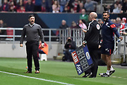 Bristol City manager Lee Johnson reacts during the EFL Sky Bet Championship match between Bristol City and Burton Albion at Ashton Gate, Bristol, England on 13 October 2017. Photo by Richard Holmes.