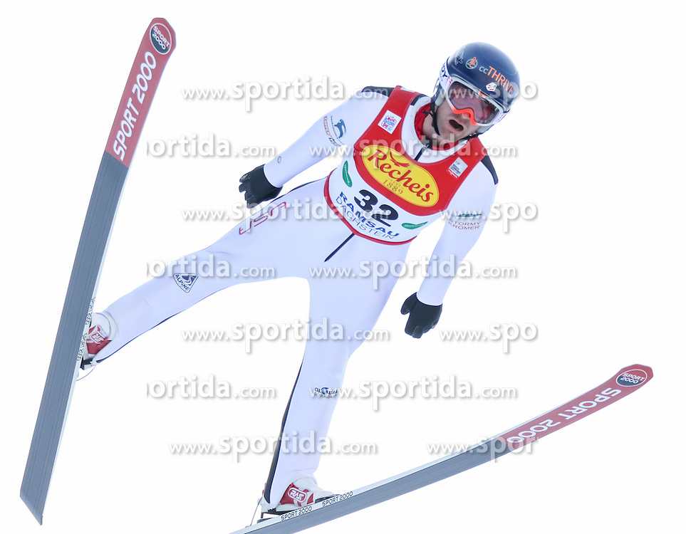 17.12.2016, Nordische Arena, Ramsau, AUT, FIS Weltcup Nordische Kombination, Skisprung, im Bild Bryan Fletcher (USA) // Bryan Fletcher of the USA during Skijumping Competition of FIS Nordic Combined World Cup, at the Nordic Arena in Ramsau, Austria on 2016/12/17. EXPA Pictures © 2016, PhotoCredit: EXPA/ Martin Huber