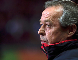 BIRMINGHAM, ENGLAND - Tuesday, October 14, 2008: Wales' manager Bryan Flynn before the UEFA European Under-21 Championship Play-Off 2nd Leg match against England at Villa Park. (Photo by Chris Ratcliffe/Propaganda)