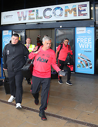 Jose Mourinho is spotted at the Manchester Airport, UK as the Manchester United Football Club return from their USA Pre-Season tour on July 1, 2018.