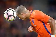 01-09-2016: Voetbal: Nederland v Griekenland: Eindhoven<br /> <br /> (L-R)  tijdens het vriendschappelijk interlandduel tussen Nederland en Griekenland in het Philips stadion in Eindhoven op 1 september 2016<br /> <br /> Foto: Gertjan Kooij