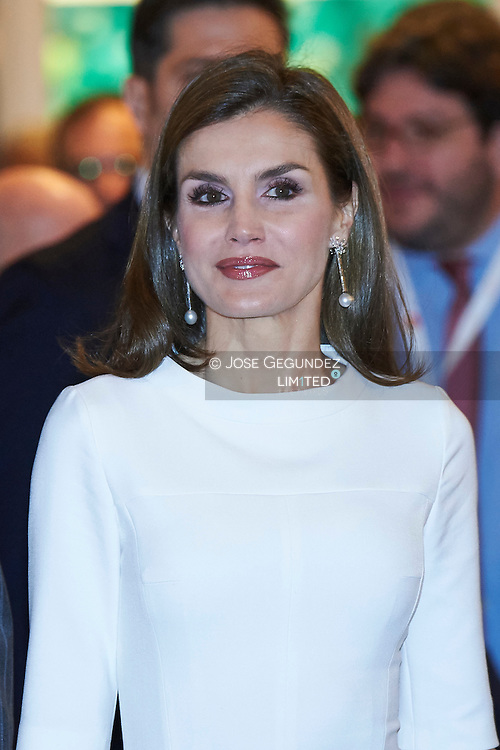 Queen Letizia of Spain attended the opening of ARCO 2017 (2017 Contemporary Art Fair) on February 23, 2017 in Madrid, Spain