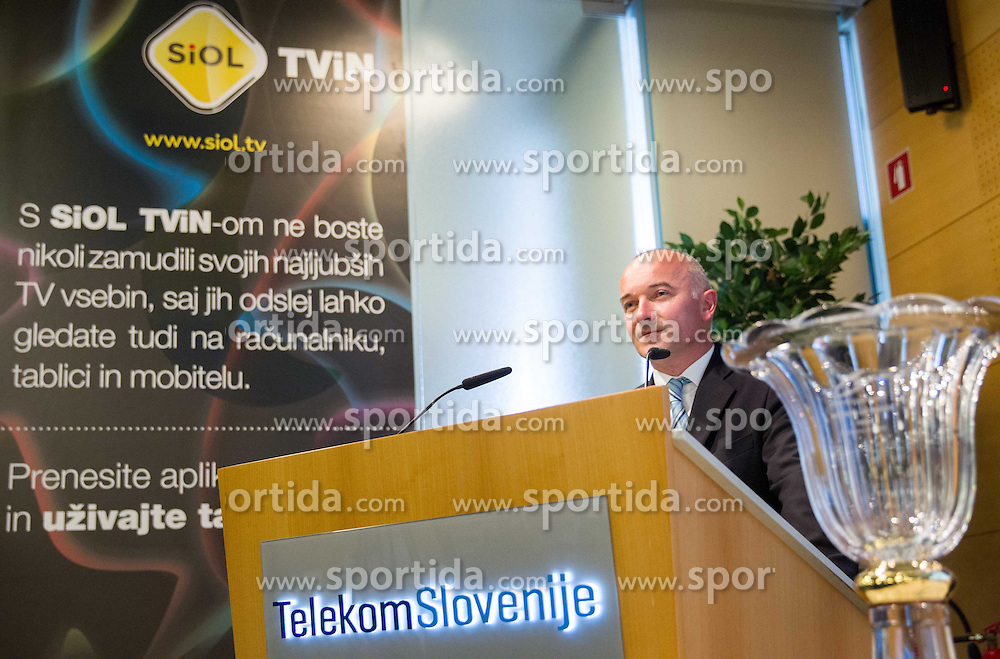 Bogdan Fink of KK Adria Mobil during press conference of cycling race Tour de Slovenie 2013, on May 9, 2013, in Telekom Slovenije, Ljubljana, Slovenia. (Photo By Vid Ponikvar / Sportida.com)