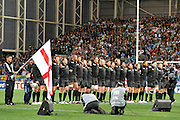 England sing their National Anthem at the England v Argentina  RWC Pool B match Played at the Otago Stadium on Saturday 10th September - Otago Stadium, Friday 9th September 2011 ~ Photo : Steven Hight (AURA Images)
