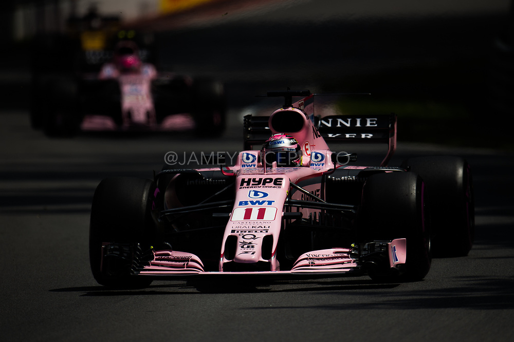 June 8-11, 2017: Canadian Grand Prix. Sergio Perez (MEX), Sahara Force India, VJM10