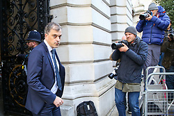 © Licensed to London News Pictures. 22/10/2019. London, UK. Secretary of State for Northern Ireland JULIAN SMITH arrives in Downing Street to attend the weekly cabinet meeting. Photo credit: Dinendra Haria/LNP
