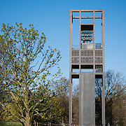 The Netherlands Carillon standing in Arlington, VA, next to the Iwo Jima Memorial.