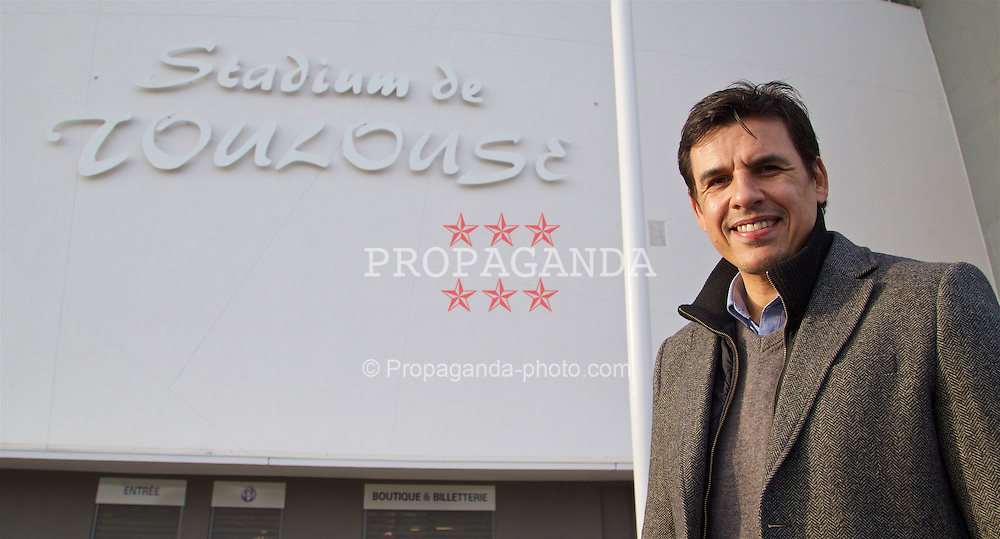 TOULOUSE, FRANCE - Tuesday, January 26, 2016: Wales' manager Chris Coleman during a visit to the Stadium de Toulouse on an inspection visit ahead of the UEFA Euro 2016 Tournament. (Pic by David Rawcliffe/Propaganda)