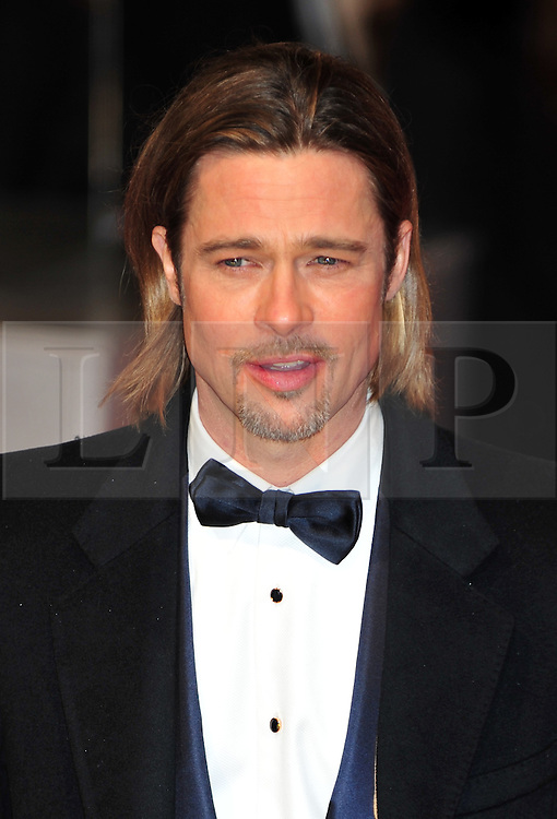 © Licensed to London News Pictures. 12/02/2012. London, England.Brad Pitt arrives for the Orange British Academy Film Awards at The Royal Opera House on February 12, 2012 in London, England. Photo credit : ALAN ROXBOROUGH/LNP