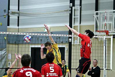 NLD/Huizen/20081220 - Voleyball wedstrijd Prima Donna Huizen Heren 1 - Ortec Nesselande,