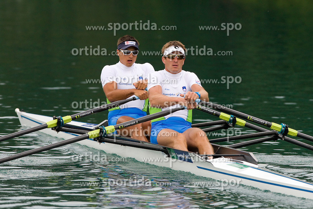 Iztok Cop and Gasper Fistravec during photo session of Slovenian National Rowing team, on May 20, 2011, in Bled lake, Slovenia. (Photo by Vid Ponikvar / Sportida)